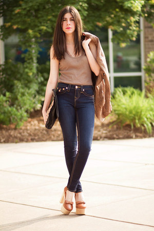 Skinny Jeans True Religion Jeans Leather Jacket Burning