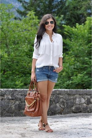 Zara Blouses H Amp M Shorts Zara Sandals Quot Fringe Blouse