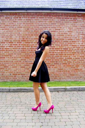 Black Verycouk Dresses Hot Pink Bright Pink Linzi Shoes