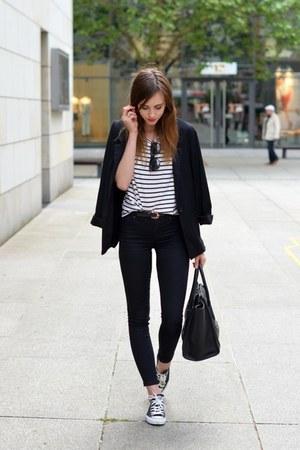 black converse shoes black topshop jeans black sheinside
