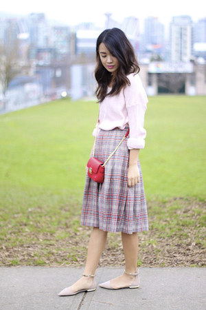 Plaid Wool Pendleton Skirts, Pink H&M Sweaters, Small ...