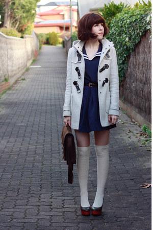 Off White Yana Duffle Forever New Coats, Navy Sailor Romwe Dresses ...