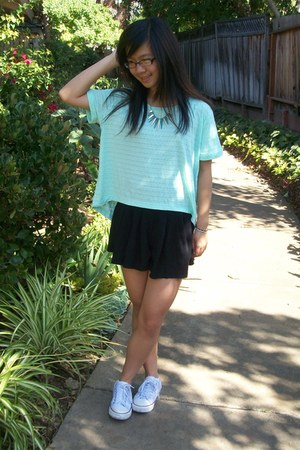 light blue tops black skirts quot minted quot by gotcathy