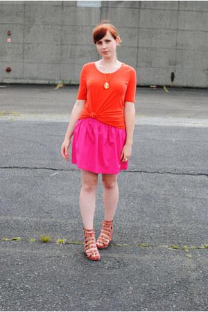 Orange Mossimo Shirts Hot Pink Zara Skirts Red Jeffrey