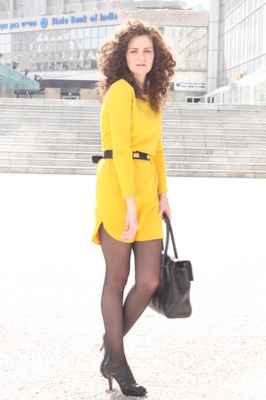 yellow chic zara dresses black vintage belts quot