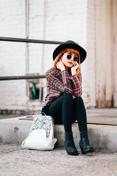 How to Style a Vintage Plaid Blouse in a Modern, Edgy, Street Style Way