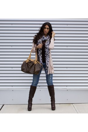 Skinny H Amp M Jeans Brown Leather Guess Boots Tivoli Gm