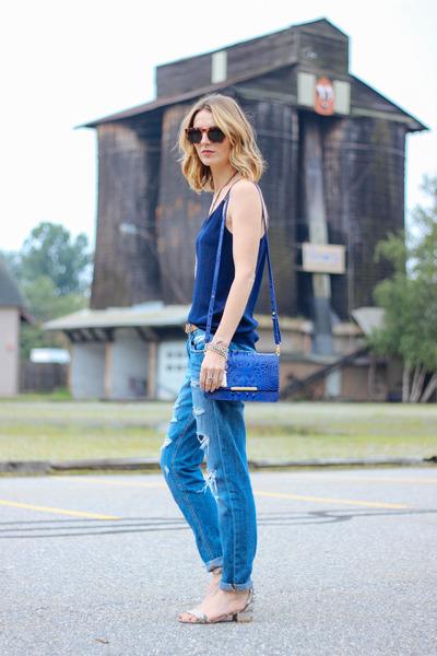 Boyfriend Jeans and a Silk Cami