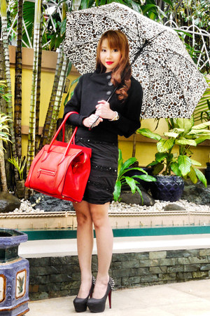 "celine handbags online shop - Black Zara Coats, Red Celine Bags, Black Zara Blouses | ""Loose ..."