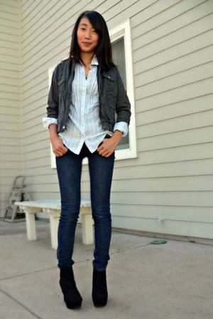 Black Dsw Shoes Navy Loft Jeans Dark Gray Forever 21