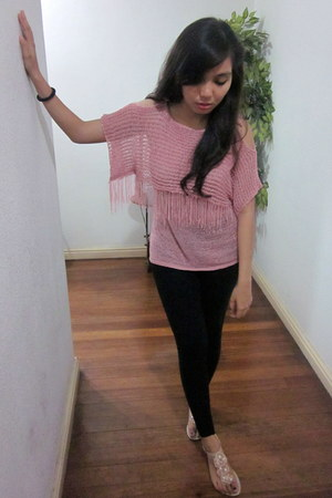 Black Mango Leggings Pink From China Tops Light Pink Rosette Tomato Sandals | u0026quot;Fringe and ...