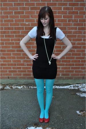 Sky Blue Walmart Tights Black Forever 21 Dresses White