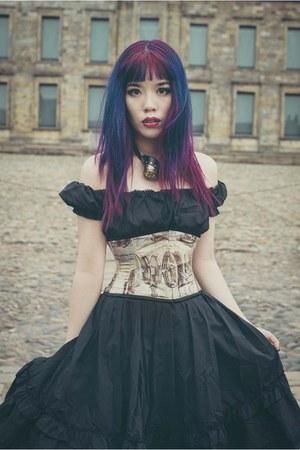 Purple Goth Fashion La Carmina Necklaces Black Dracula