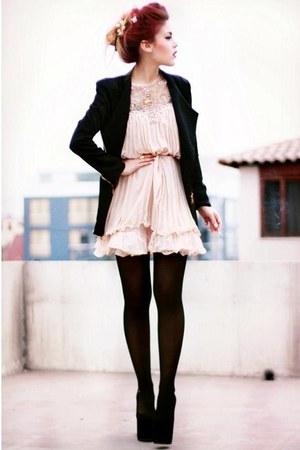 black sammydress blazers light pink she inside dresses