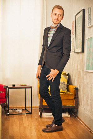 Men S Brown Wingtip Alfani Shoes Black Lip Service Jeans