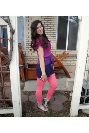 d0cfaa6fa49438 Ombre Top Mint Macys Tops, Kohls Leggings, Sandals Pink Material Girl  Sandals |