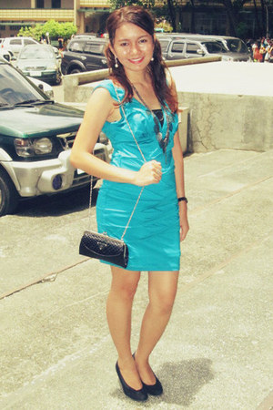 black collection shoes turquoise blue forever21