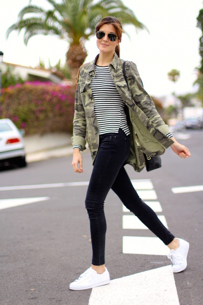 Stripes and militar print