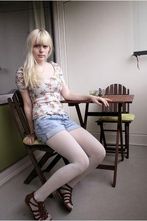 Blue Zara Shorts White Zara Ts Shirts White American