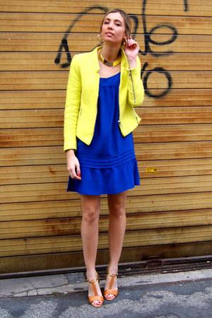 Yellow Zara Jackets Blue Massimo Dutti Dresses Light