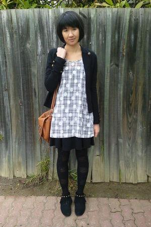 Black Stockings Black Gripp Jackets White Dresses Black