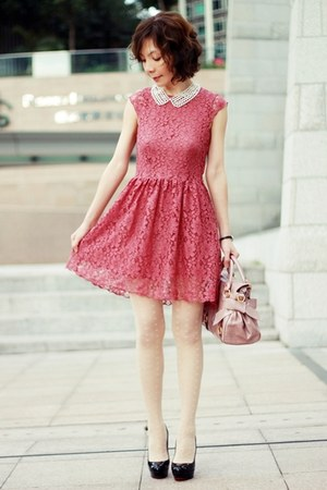Coral Lace H&M Dresses, Light Pink Bow Satchel Miu Miu ...