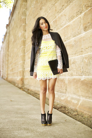 Yellow Sass And Bide Dresses Black Charlotte Olympia