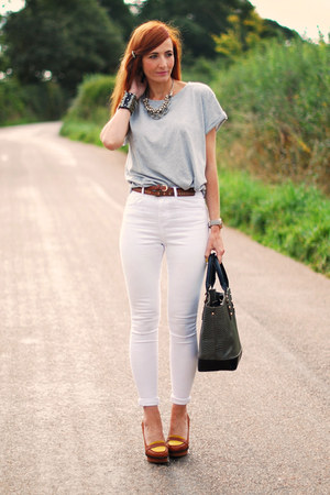 White asos jeans dark gray laura ashley bags silver asos for Silver jeans t shirts
