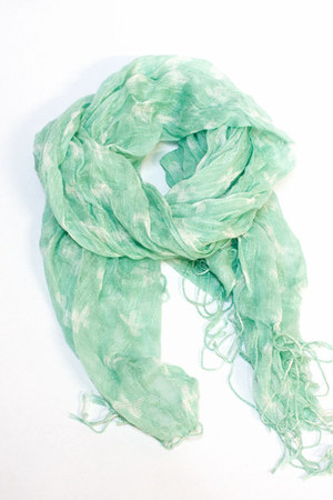 Light blue number a scarves lightweight mint green scarf 20 off by numbera chictopia - Light blue and mint green ...