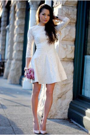 Off White Bebe Dresses Light Pink Boutique 9 Heels