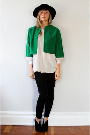 Forest Green Oma Vintage Jackets, Ivory Oma Vintage Shirts, Black ...