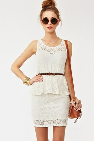 black and glasses white dresses brown bags