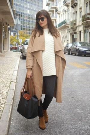 Camel Massimo Dutti Boots, Camel Zara Coats, Charcoal Gray ...