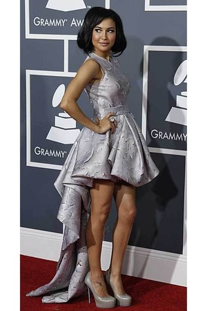 "Silver Dresses, Silver Heels | ""Grammys '11...Best Dressed"" by ..."