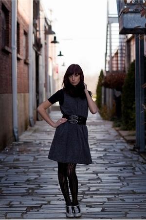 Gray Gap Dresses Black Nashville Clothing Co Belts Black