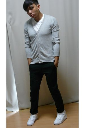 men's neu look cardigans uniqlo shirts grey hound pants