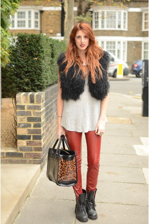 Ruby Red Leather Pants Bsb Black Biker Boots Office London Baby By Reapap Chictopia