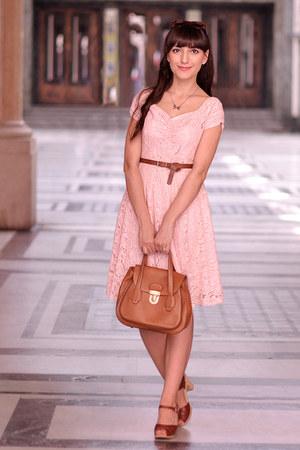 Light Pink Vintage Dresses Brick Red Swedish Hasbeens Shoes ...