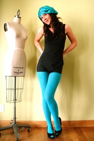 Blue Welovecolorscom Tights Black Vintage Swimwear