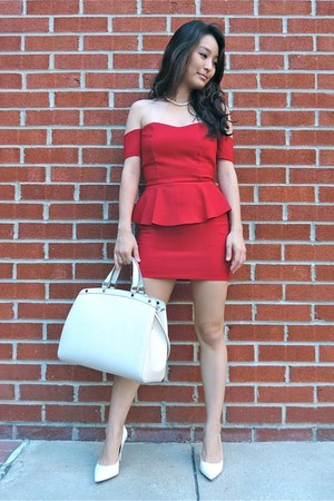 red deb dresses white louis vuitton bags white pointeds