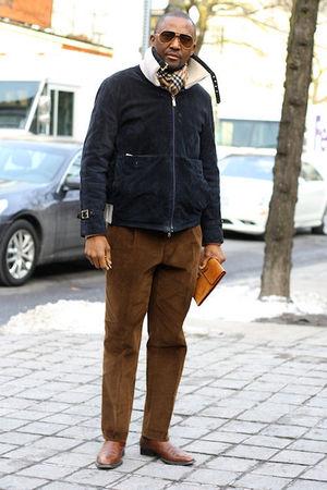 Men's Brown Cesare Attolini Pants