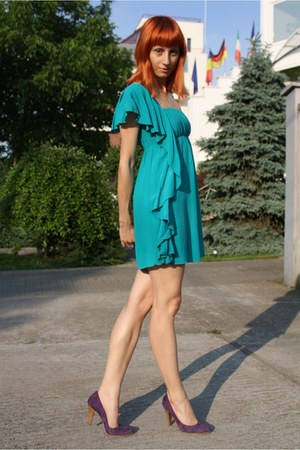 Purple Filty Shoes Teal Terranova Dresses Take Me Down To The Emerald City By Skinnybuddha Chictopia