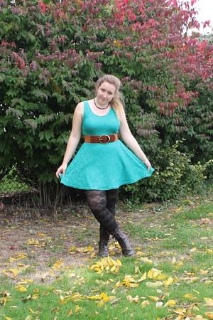Belts Boots Turquoise Lace Dresses Black Patterned