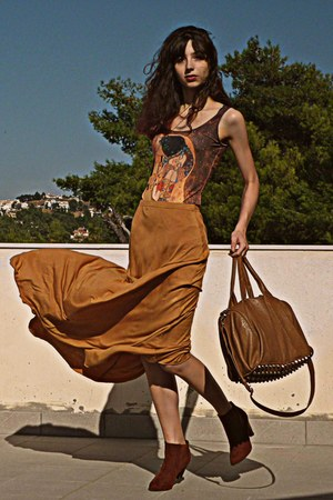 Mustard Maxi Pop Couture Skirts Burnt Orange Boots Quot The