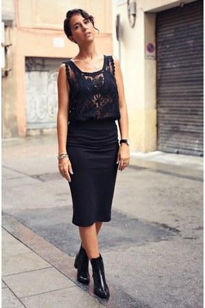 Black Ankle Boots Zara Boots Black Pencil Skirt H Amp M