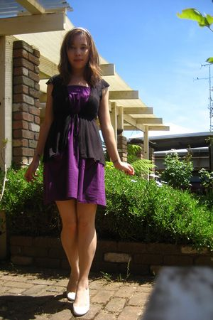 White Shoes, Purple Dresses, Black