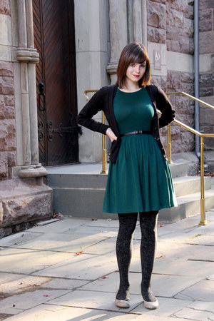 Black Silver Sparkled George Tights Forest Green Asos