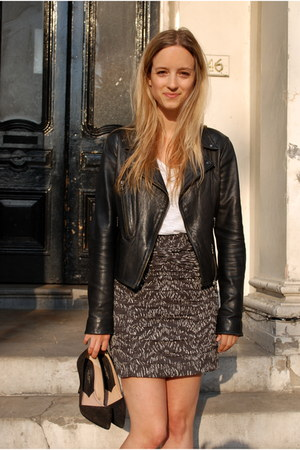 Black Leather Jacket PAUW Jackets Black Asymmetrical Zara Heels Gray Ruffleds | u0026quot;OUTFIT | DO ...