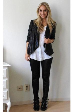 Black Sequin Blazer Zara Blazers Black Dsquared Shoes