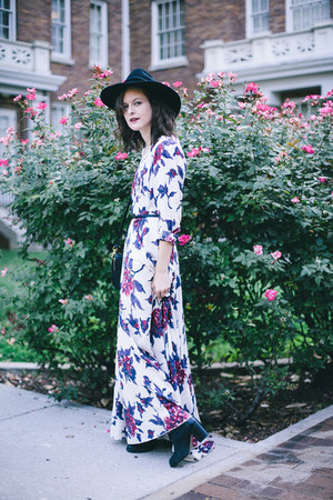 Black Chelsea Tba Shoes Boots White Floral Maxi Free